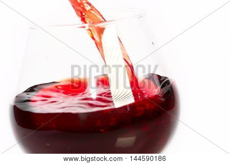 scene beautiful drops and splashes of wine