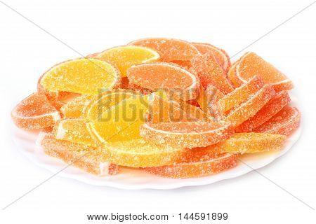 scene colorful dainty slices of sweet jujube