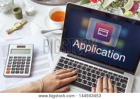 Accounting Statistics Technology Application Concept