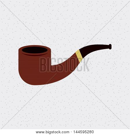 pipe smoke wooden isolated icon vector illustration design