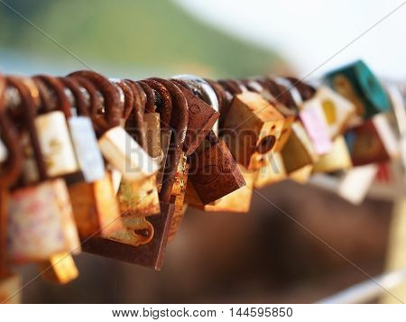Locked locks of love and loyalty to