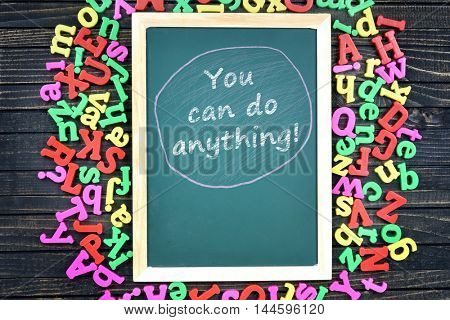 You can do anything text on school board and magnetic letters