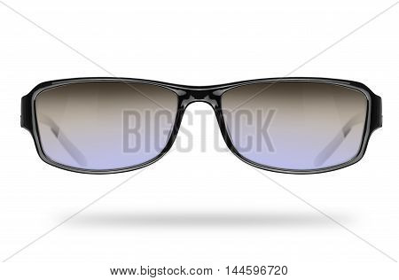 classic sunglasses isolated on a white background