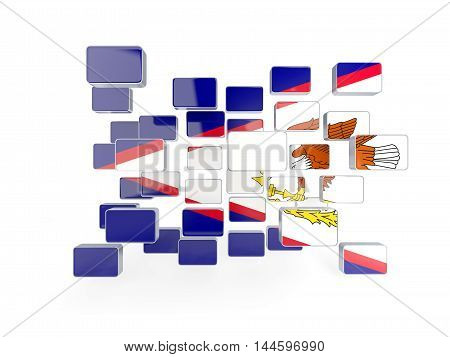 Flag Of American Samoa, Mosaic Background