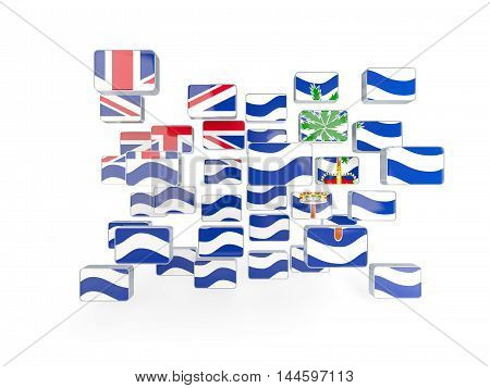 Flag Of British Indian Ocean Territory, Mosaic Background
