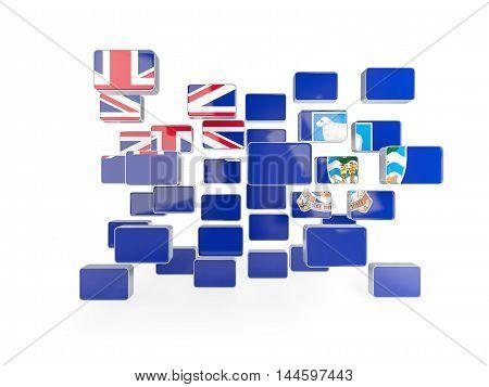 Flag Of Falkland Islands, Mosaic Background