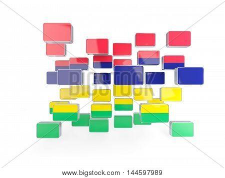 Flag Of Mauritius, Mosaic Background