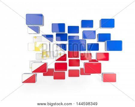 Flag Of Philippines, Mosaic Background