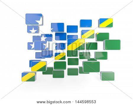 Flag Of Solomon Islands, Mosaic Background