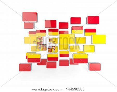 Flag Of Spain, Mosaic Background