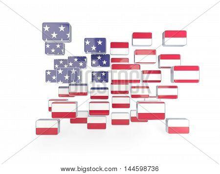 Flag Of United States Of America, Mosaic Background