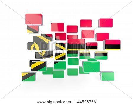 Flag Of Vanuatu, Mosaic Background