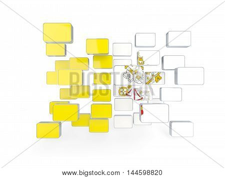 Flag Of Vatican City, Mosaic Background