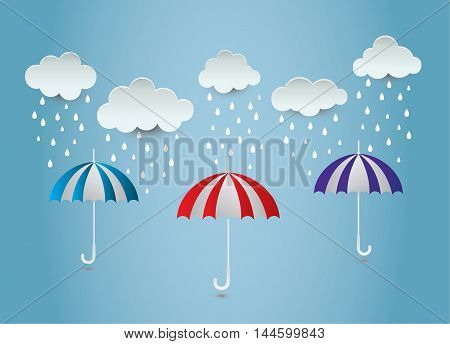 umbrella rain  ideas design vector illustration on background