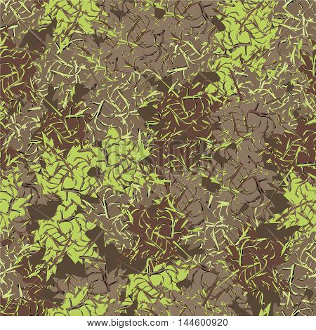 Military background, pattern, khaki seamless vector illustration