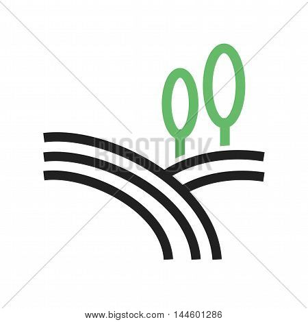 Farm, rural, field icon vector image. Can also be used for farm. Suitable for mobile apps, web apps and print media.