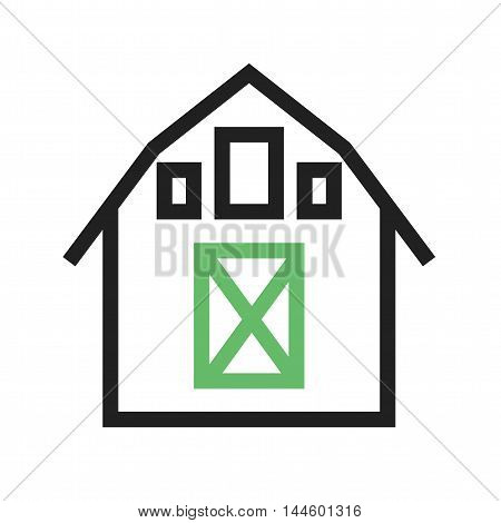 Barn, field, agriculture icon vector image. Can also be used for farm. Suitable for mobile apps, web apps and print media.