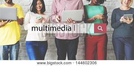 Multimedia Media Communication Digital Online Concept