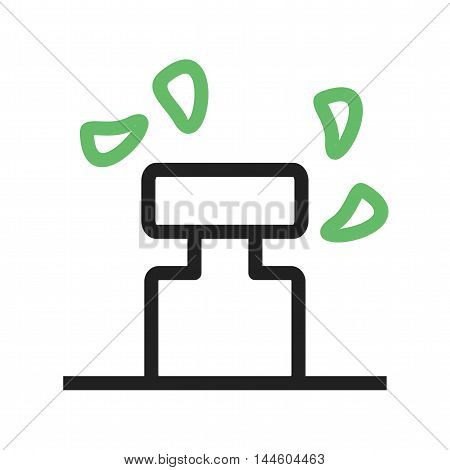 Irrigation, farming, sprinkler icon vector image. Can also be used for farm. Suitable for use on web apps, mobile apps and print media.