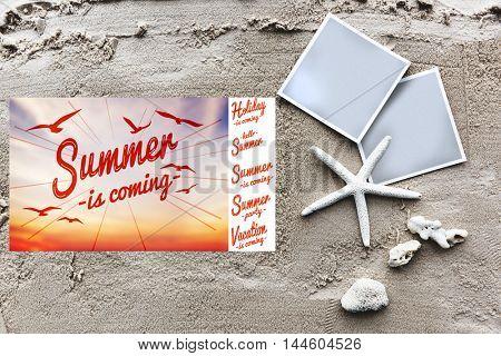 Summer Break Fun Party Banner Concept