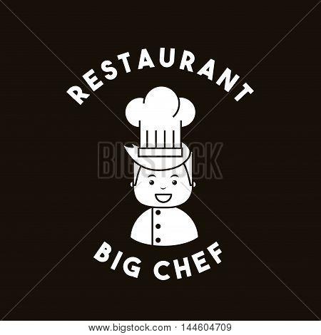 big chef restaurant menu vector illustration design