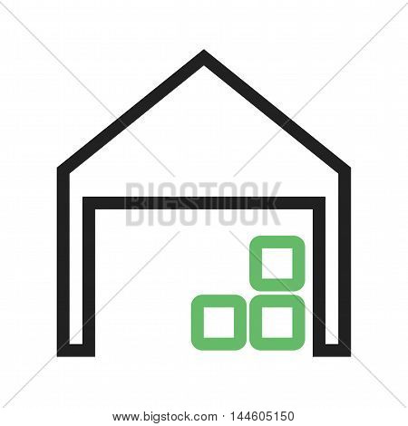 Warehouse, storage, distribution icon vector image. Can also be used for farm. Suitable for mobile apps, web apps and print media.