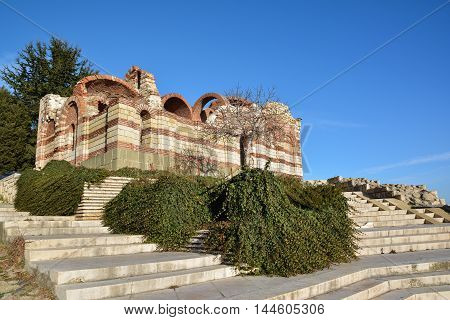 Ancient church in old town Nesebar,  Bulgaria