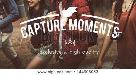 Capture Moments Memories Collection Concept