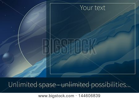 billboard unlimited space unlimited opportunities business vector