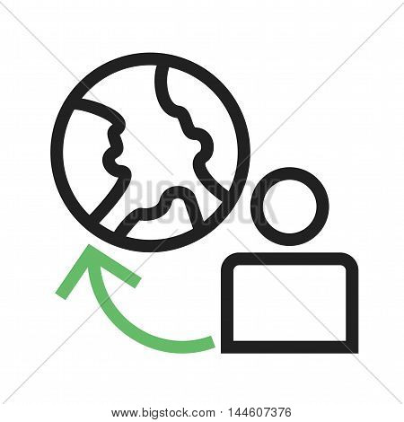 User, global, profile icon vector image. Can also be used for web. Suitable for mobile apps, web apps and print media.