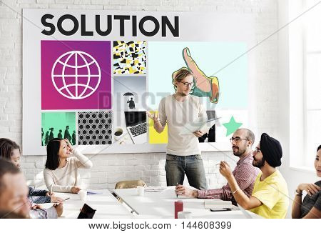 Solution Decision Discovery Ideas Improvement Concept