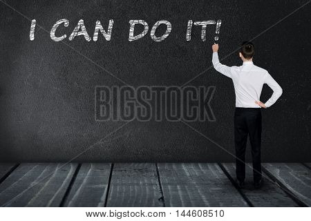I can do it text write on black board