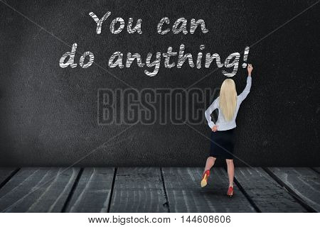 You can do anything text write on black board