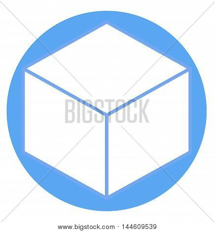Cube sign icon vector illustration. Flat design style for web site design or button to mobile app