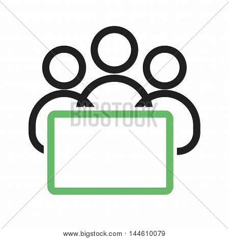 Students, studying, computer icon vector image. Can also be used for E Learning. Suitable for mobile apps, web apps and print media.