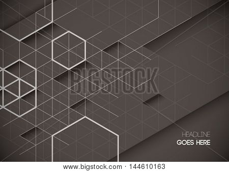Vector of abstract geometrical background