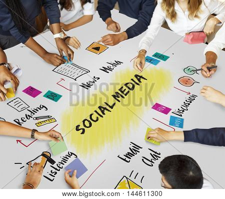 Social Media Networking Connecting Online Concept