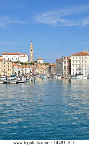 Harbor of Piran at adriatic Sea in Slovenia,Balkans