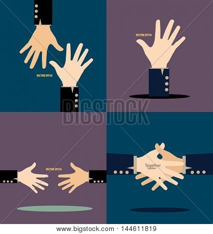 Hands. Vector illustration