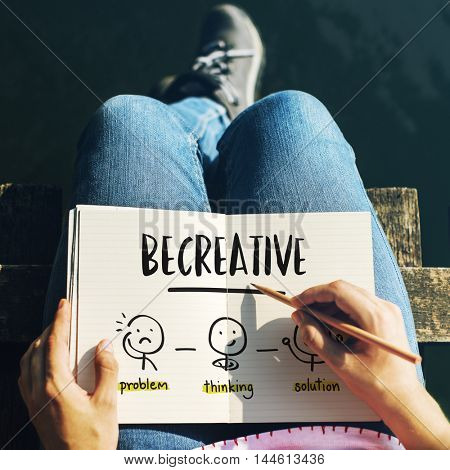 Be Creative Thinking Brainstorm People Concept