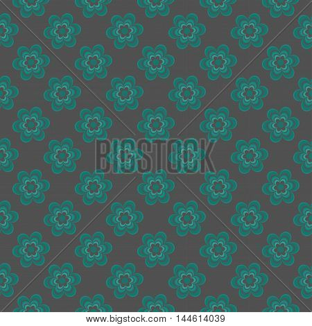 Elegant floral pattern in dark tones. vector.