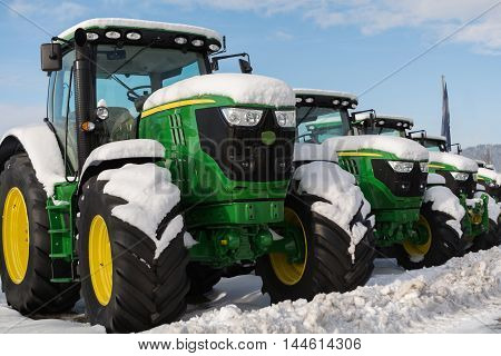 Tractors of different power have a winter break