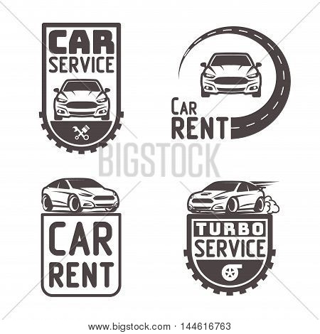 Automotive Car Rent Repair Logo Template Design Vector