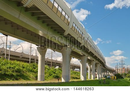 High-rise highway built on stilts around the city.