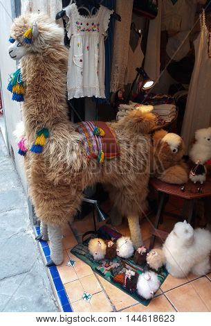 Cute Plush Llama In Florence