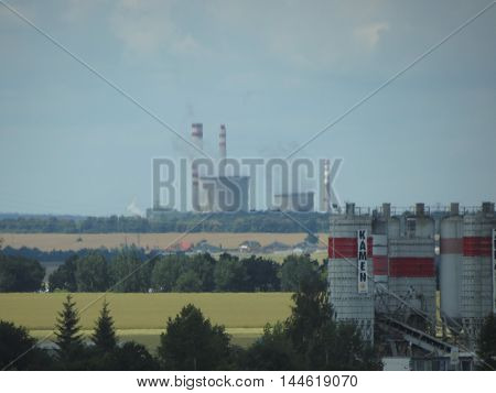 Power Station In Prague With Turbulence