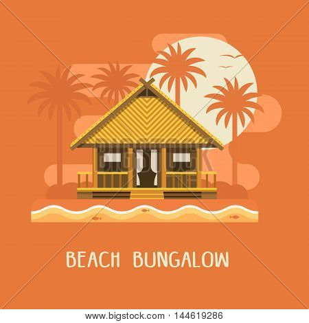 Beach Bungalow Poster