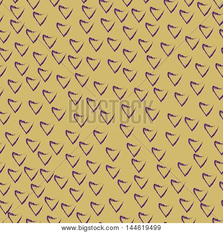 Heart chaotic seamless pattern. Fashion graphic background design. Modern stylish abstract color texture.