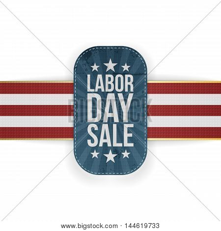 Labor Day Sale patriotic Banner with Stars. Vector Illustration
