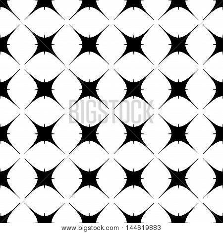 Star geometric seamless pattern. Fashion graphic background design. Modern stylish abstract monochrome texture.